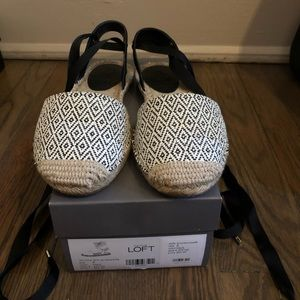 LOFT Diamond Ankle Tie Espadrille Flats